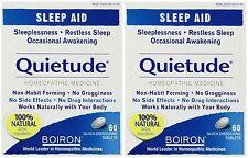 2 Pack Boiron Quietude Natural Sleep Aid sleeping pills 60 dissolving tablets Ea
