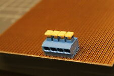 Pressione WAGO Morsetti rm5mm 2x0,75mm BLU 4 scomparto 235-714 3 pezzo