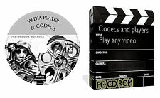 Media Player Codecs Pack Play Any Video DVD AVI DIVX MP3 WAV CD MPEG Blue Ray