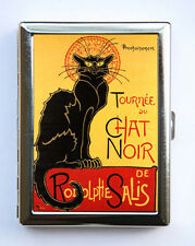 Le Chat Noir Cigarette Case id case Wallet Business Card Holder french cat