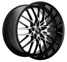4-NEW Konig 16MB Lace 15x6.5 5x100/5x114.3 +40mm Black/Machined Wheels Rims