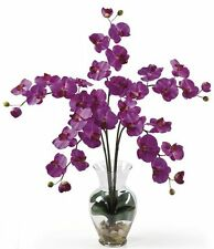 Nearly Natural Phalaenopsis Liquid Illusion Silk Flower Arrangement- Orchid