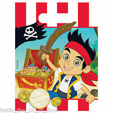 6 JAKE & THE NEVER LAND PIRATES Party Gift Favour Plastic Loot Bags
