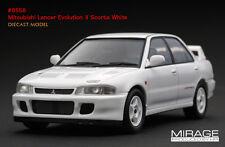1:43 HPI DIECAST #8558 Mitsubishi Lancer Evolution II Scortia White