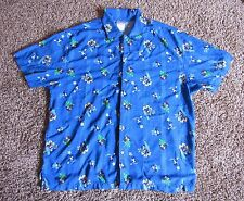 Disney Store Exclusive Mickey Mouse Beach Button Front Rayon Shirt Size Large