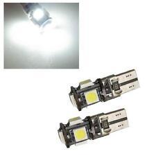 2 X XENON WHITE 5 SMD 501 W5W T10 CANBUS ERROR FREE LED SIDELIGHT BULBS 6000K