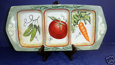 Fitz and Floyd  Le Marche Vegetable 3 Section Server-  58/275- New in Box