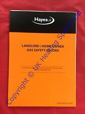 Hayes 663010 Landlord / Home Owner Gas Safety Record Pad In Triplicate 25 Sheets