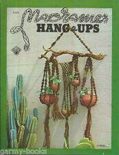 Macrame Hang-Ups Bruce Morrison Vintage Pattern Book NEW Plant Hanger Swag Lamp