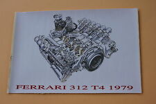 XE Certificat autocollant FERRARI 312 T4 1979 moteur socle Heco 1/43