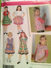 Simplicity Sewing Pattern 4286 Childs Girls Apron 5 Designs Size 3-8