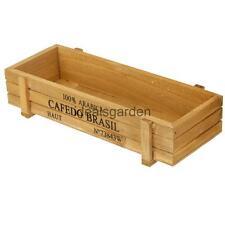 Garden Planter Plant Rectangle Flower Succulent Pot Trough Box Wood Case Bed
