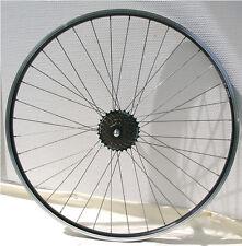 Hinterrad 28 Zoll schwarz Laufrad m. Shimano Zahnkranz 7fach  Hohlkammerfelge