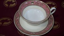 (4) Cup and Saucer Sets -  Wedgwood Runnymede Pink
