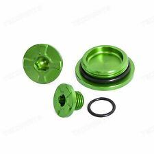 CNC Green Crankcase Cover Oil Filler Plug For Kawasaki KLX450R KX450F 2009-2015