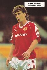 Football Photo MARK HUGHES Man Utd 1983-84