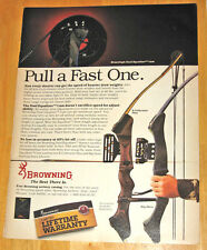 Vintage Browning X-Cellerator & Big Horn Compound Bow Magazine Advertisement