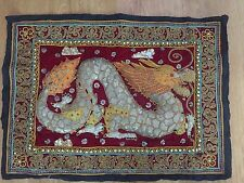Stunning Chinese Dragon Tapestry/picture, 17in X23 In. Genuine. Work Of Art