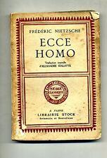 Fredéric Nietzsche # ECCE HOMO # Librairie Stock 1931