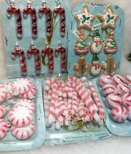 51pc Mini Peppermint, Candy Cane, Gingerbread Christmas Tree Ornaments crafts