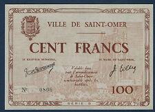 FRANCE - 100 FRANCS St OMER. de JUIN 1940. en NEUF   0806