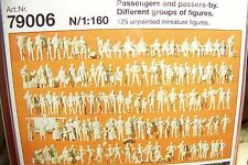 N Preiser 79006 ONE HUNDRED TWENTY FIVE (125) Assorted UNPAINTED FIGURES KIT