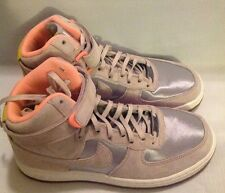 NIKE 654440 002 NIKE WOMENS AIR FORCE 1 HIGH SZ 6.5 SILVER BASKETBALL SHOES