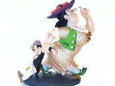 Albert Dubout *Partoni cheri* Donna Grassa u Suo Piccolo Uomo Scultura 20609B