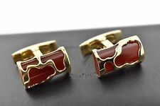 NEW Visconti Art Corniola Red & Vermeil Gold Plated Cufflinks Model # 980C044