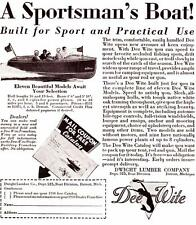 1930 Vintage ad 16 & 18 foot Dee Wite Sportsman Boats
