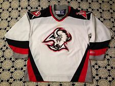Vtg 90s NHL Buffalo Sabres CCM Jersey White Large Blank Sewn On Patches