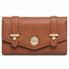 New Kenneth Cole® Large Envelope Flap Clutch Wallet- Brown 800