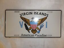 VIRGIN ISLAND CAR LICENSE PLATE -FREE SHIPPING NEW SEALED