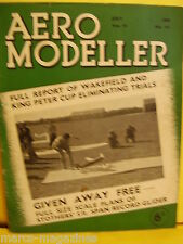 RARE AEROMODELLER JULY 1939 5FT STOTHERS GLIDER PLAN MODEL AIRCRAFT