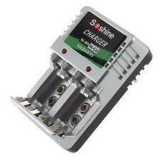 EU Plug Charger For AA/AAA/9V/Ni-MH/Ni-Cd Rechargeable Battery Batteries UL