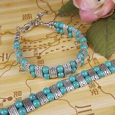 DIY NEW Fashion Free shipping Jewelry Tibet jade turquoise bead bracelet S183B
