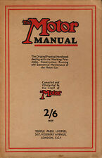 The Motor Manual  29th Edition - Published by Temple Press 1937