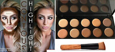 10 Colors contour & Concealer Face cream Makeup Palette  with Brush