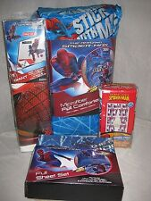 NEW THE AMAZING SPIDERMAN STICK WITH ME 9 PC FULL BED SET WINDOW PANELS DECALS