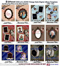 15 OoAk Digital Vintage Album Pages+MUCH MORE on CD~Templates~Scrapbooking~Photo