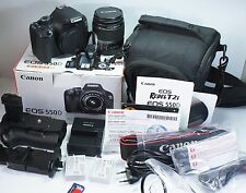 Kit Canon Rebel T2i/550D Digital SLR Lens EF-S 18-55 IS,Grip&Bag