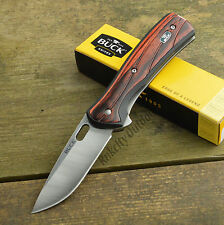 Buck Knives Vantage Avid 420HC Large Rosewood Dymondwood Handle Knife 346RWS