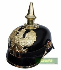 WW1 GERMAN ARMY PICKELHAUBE LEATHER HELMET REPRODUCTION