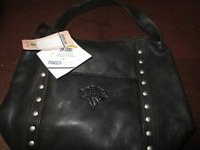 NBA New York Knicks Black Leather Women's Mini Top Zip Handbag WW 7749