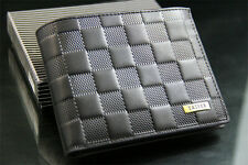 New Mens Leather Wallet Bifold Purse Clutch ID Card Holder Embossment Money Clip