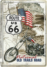 Nostalgic type route 66 national Old trails road main street usa tôle carte postale