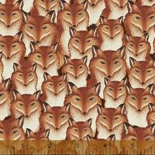 1YD Wild Woods FOREST FOX Woodland Animal Foxes 41124 Daphne B Windham Fabric
