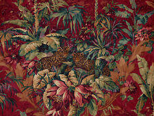 1.625 YDS Mill Creek Raymond Waites VINTAGE JUNGLE RUSSET Safari Drapery Fabric
