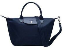Auth Longchamp Small Le Pliage Neo BLUE Tote Shoulder Bag Tote Crossbody 1512
