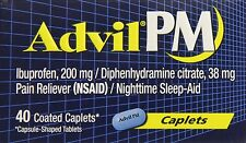 Advil PM Pain Reliever/Nighttime Sleep Aid Caplets 40ct -FREE WORLDWIDE SHIPPING